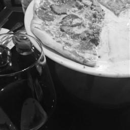 pizza wine vino dinner blackandwhite foodphotography myphotography
