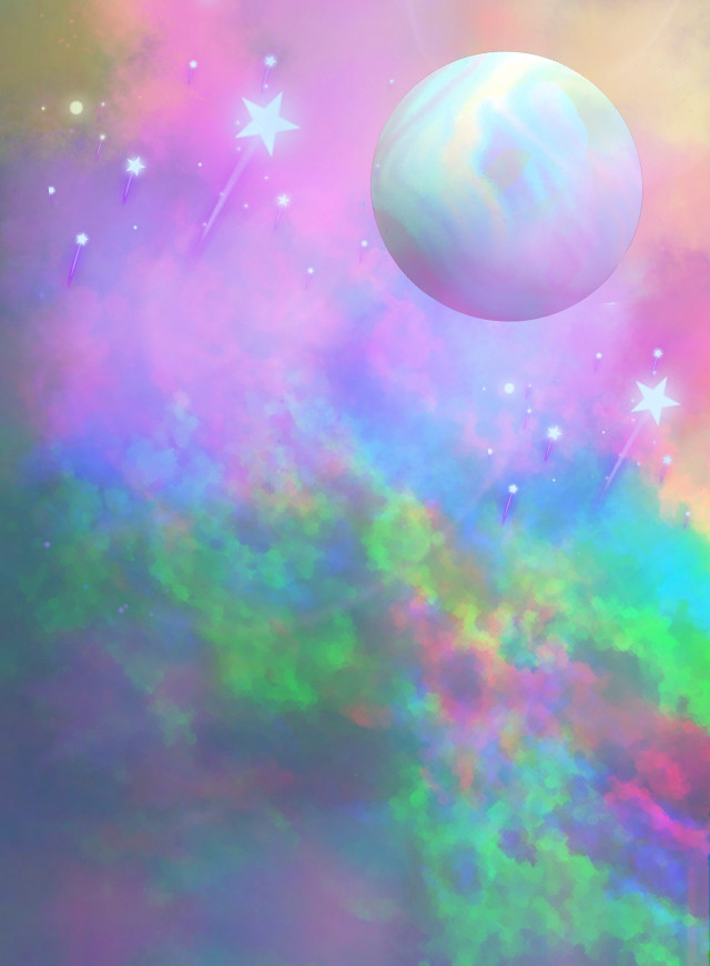 #fantasyart #fantasybackground #fantasyworld #makebelieve #myimagination #heypicsart #makeawsome #sky #clouds #planet #holographic #holographicbackgrounds #aesthetic #colorful #stickers #picsarteffects #artisticedit #becreative #myedit #madewithpicsart