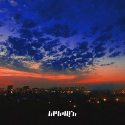 freetoedit picsart picsartedit edit text evening buindings sky skies yerevan city lights burningsky