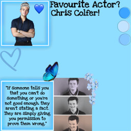 chriscolfer blue icon idol blueheart heart crown quotes butterfly freetoedit