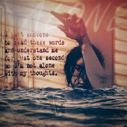 freetoedit alone lonely sad drowning shadoweffect depression unsplash