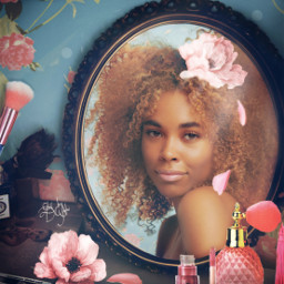 prettyinpink photoremix fxeffects fxtools portrait mirror beauty freetoedit