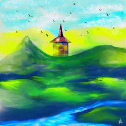 freetoedit picsart mydrawing landscape background remix remixit
