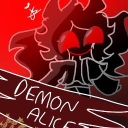 demon alice demonalice painting ibspaint art alicethumbnail alicelikescookies roblox brookhaven roleplay cookie_ali baii
