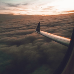 plane travel clouds abovetheclouds sunset sun sunshine warmcolor goldenhour freetoedit pcgoldenhour