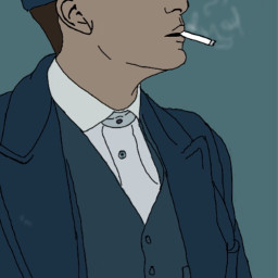 draw art peakyblinders blinders england cigarette smoke