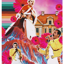 freetoedit popcity freddiemercury queen collage