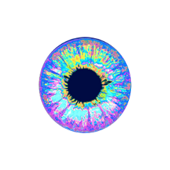 freetoedit eye sticker holographic colorful