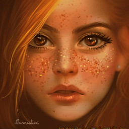 freetoedit remixit plzfollow freepfp aesthetic redhair auburnhair ambereyes sparkle digitalart prettygirl teen glossy lips darling cute vsco girlart
