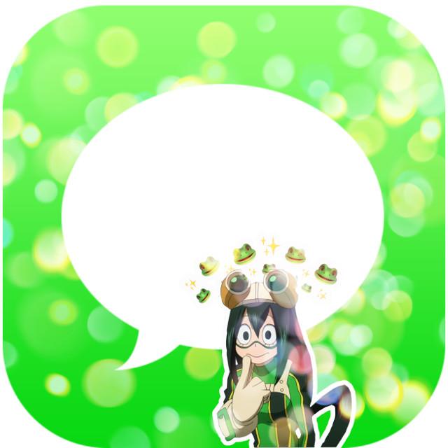 Froppy/tsuyu asui message app! #froppy #bnha #mha #myheroacademia #myhero #appchallenge #tsuyuasui #tsuyu #asui #freetoedit