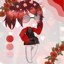 redaesthetic red asthetic clothes flowers crown pallete eyeglasses socks freetoedit