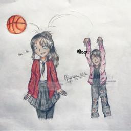 art drawing ocdrawing funny funnydrawing girldrawing girl basketball myoc oc skit sketch pencildrawing drawingonpaper drawingart people traditionaldrawing
