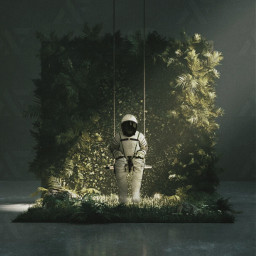 astronaut leaves chair sitting wallpaper background masterstoryteller be_creative freetoedit