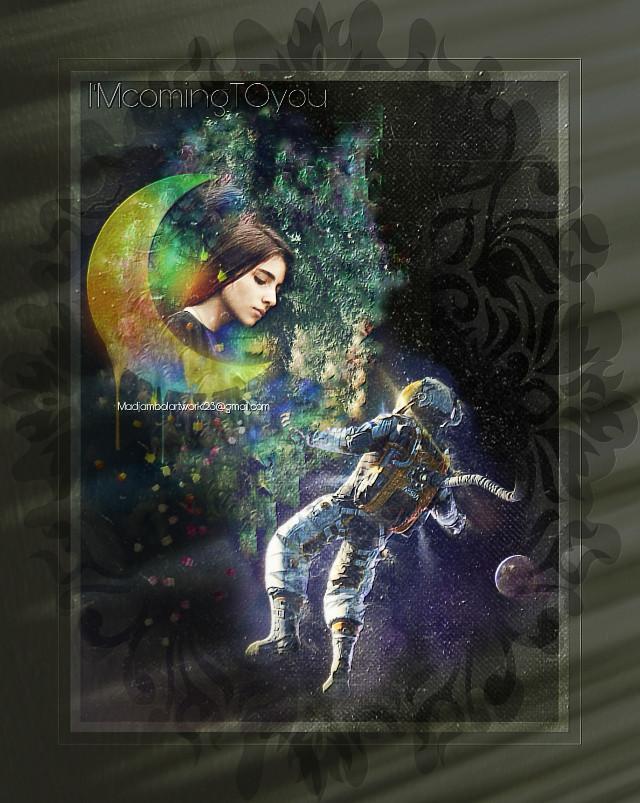 @madjambolartwork123 Mj.arts #astronaut #femaleportrait #lovestory 🤣🤣🤣#i'mcomingtoyou 💐❤️💋❤️💐