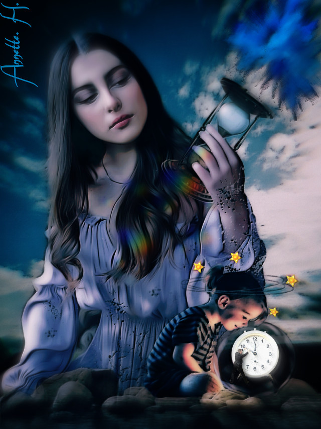 #time is running#woman#girl#time#watches#bluesky