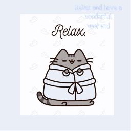 pusheen relax freetoedit