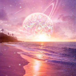 freetoedit sparkle holographic spaceart sunrise
