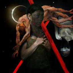 abstract mystyle babelart art painting illustration girl blinded night life men metaphor darkart