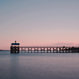 outdoorphotography ocean pier peaple goldenhour freetoedit