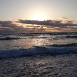 sunset ocean beach france atlantic pcgoldenhour goldenhour