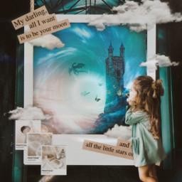 freetoedit imagination fantasyart fantasy girl srcdreamyinstantfilmframe