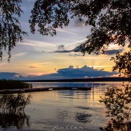 lake sunset goldenhour scharmützelsee pcgoldenhour