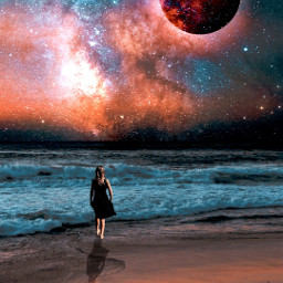photomanipulation surreal blending imagination editstepbystep galaxy madewithpicsart freetoedit
