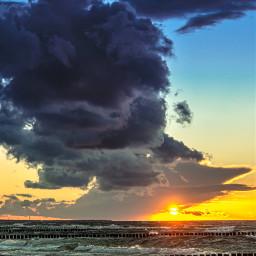 balticsea beach sunset goldenhour storm clouds pcgoldenhour