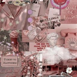 freetoedit fotoedit aesthetic vintage aestheticedit aestheticvintage background aestheticbackground pink clouds sticker flower trend