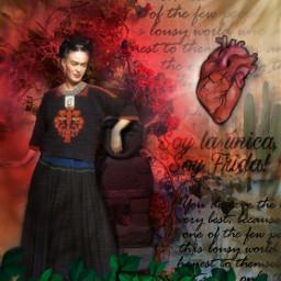 fridakahlo frida unibrow_queen vivalavida amor corazon heart myart enjoylife live happysunday freetoedit