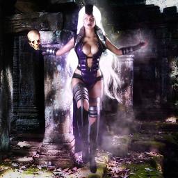mortalkombat11 mortalkombat skull dead witch wonderful picsart creative likeit beauty womansday love cool cosplay hairstyle good roxo baby halloween freetoedit