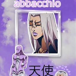 abbacchio anime jojosbizarreadventure wallpaper aesthetic italy animeaesthetic moodyjazz moodyblues jojo stand angel purple freetoedit