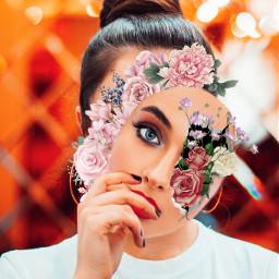 girl mask flowers ecfloralface floralface freetoedit
