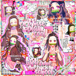 : anime edit freetoedit complexedit animeedit animeedits demonslayer demonslayeredit kny knyedit nezuko nezukoedit pink pinkcomplex complexedits