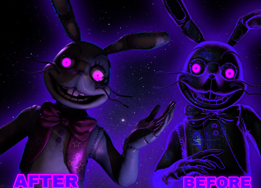 for a special for glitchtrap i made shadow glitchtrap version 2 so do you think which one is better? #glitchtrap