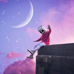 marshmello moon mellogang freetoedit