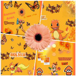 samusaran metroid charmander pokemon flareon inkling splatoon ccorangeaesthetic orangeaesthetic freetoedit