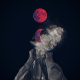 photoedit mooneclipse moonred cloud star aesthetic minimal sparklers freetoedit