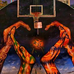 streetart basketball