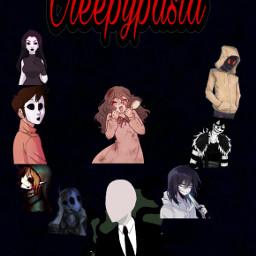creepypasta slenderman jeffthekiller janethekiller masky sally bendrowned chekersmaster hoodie freetoedit