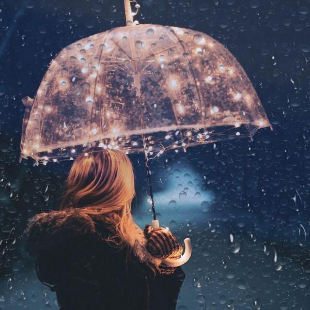 ✨ Stars under rain✨ #rain #stars #challange #umbrella
