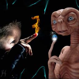 e.t. extraterrestrial littleboy fire finger ice bubble freetoedit e