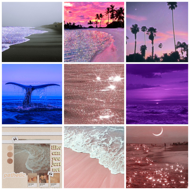 #beach #purple #blue #pink #aesthetic