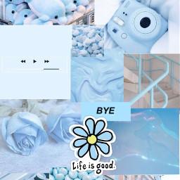 blue aesthetic wallpaper freetoedit