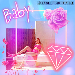 angelandstarcollabcontest addisonrae addison rae pink blue collage aesthetic cute pretty beautiful filters masks freetoedit