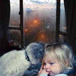 girl cat love tenderness raining srcrainonme