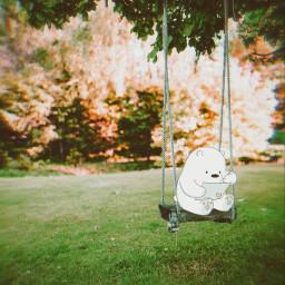 swing fun panda nature green background backgrounds remixit