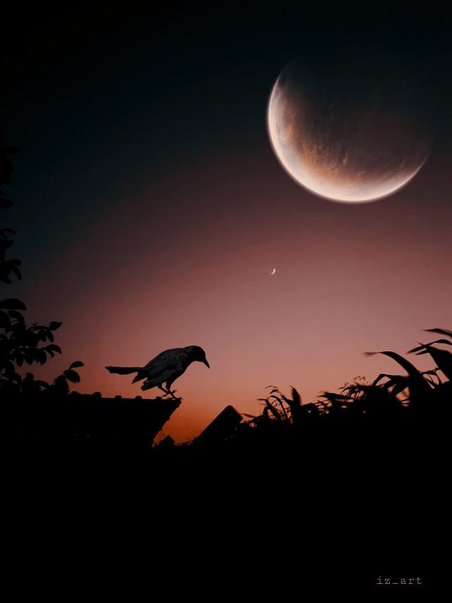 #myphotography #nature #myedit #dark #moon