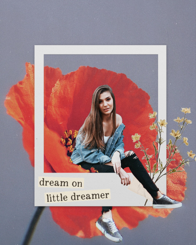 #dream #surreal #flower #model #interesting #art #poppy #aesthetic #people #photography