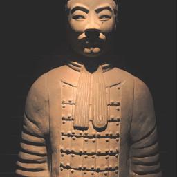 sculpture terracotta chinesewarrior art asianart freetoedit